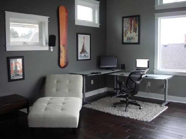 Ergonomic-and-beautiful-work-station-in-cool-gray