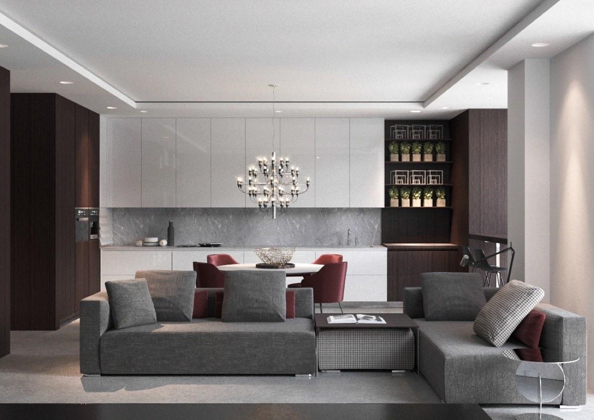 antique-chandelier-in-modern-living-room-design