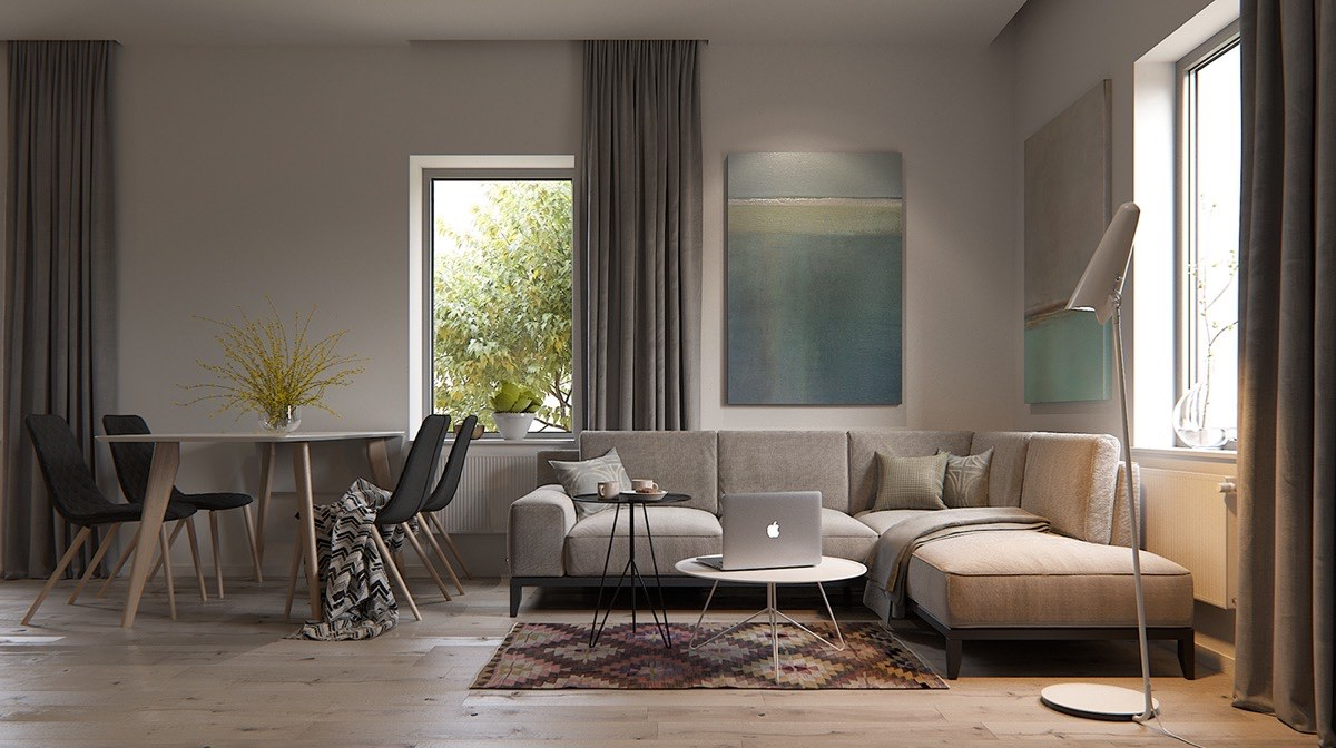 classic-rug-pattern-in-modern-living-room