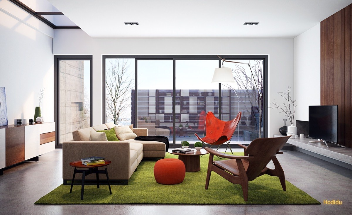 retro-living-room-furniture-and-vintage-color-theme