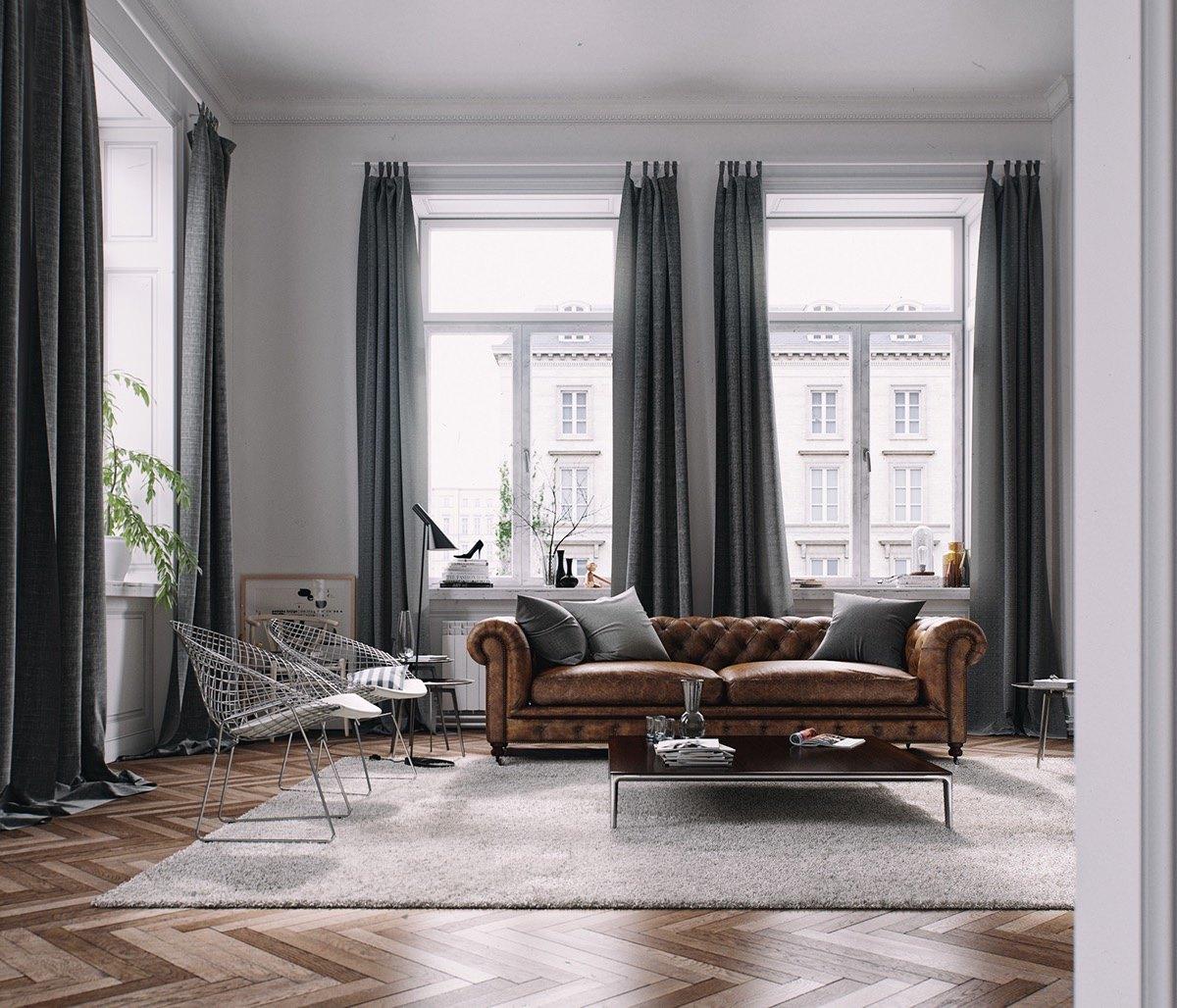 vintage-furniture-in-modern-living-room
