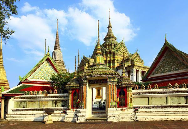 Entance to Wat Pho temple. Bangkok. Thailand.
