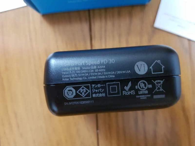 Anker PowerPort Speed 1 PD30 (30W USB-C急速充電器)akihikogoto.com